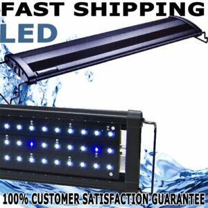 Aquarium Fish Tank LED Light SMD White+Blue Strip Light Over Head Lamp Lights