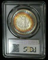 1887-P USA MORGAN SILVER DOLLAR PCGS MS65 GEM COLOR BU CHOICE UNC TONED (DR)