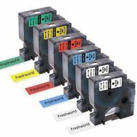 6PK 45010 45013 D1 Label Tape Compatible DYMO Label Manager 160 Combo Set 12mm
