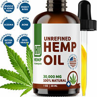 Hemp Oil Extract For Pain Relief Anxiety, Sleep 1 oz 30000 mg