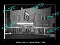 OLD LARGE HISTORIC PHOTO OF ABILENE TEXAS, VIEW OF THE MAJESTIC THEATER c1960