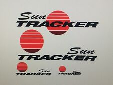 12 decal set Sun tracker Pontoon Marine Vinyl  boat decals 2 Sides Back and Dash