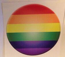 Gay Pride Rainbow Bumper Sticker Gay Lesbian Ally Support Round Circle