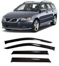 For Volvo V50 Wagon 2004-2012 Side Window Visors Sun Rain Guard Vent Deflectors