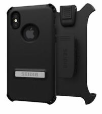 "Seidio Apple iPhone X (5.8"") Dilex Case W/ Belt-Clip Combo Black"