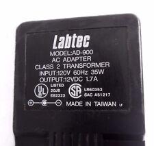 Labtec AC Adapter Model-AD-900 Class 2 Transformer 120V 60Hz 35W to 12VDC 1.7A
