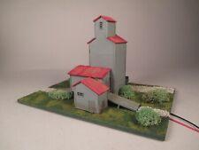 N Scale Farmers Grain & stock Co., Custom-Built, Weathered, Lighted