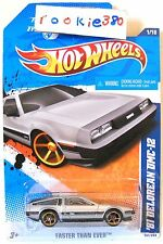 2011 Hot Wheels #141 FASTER THAN EVER * '81 DELOREAN DMC-12 * FTE CLASSIC SILVE