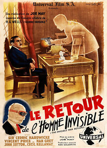 7995.Decoration Poster.Home design art.Wall decor.Invisible Man.French movie