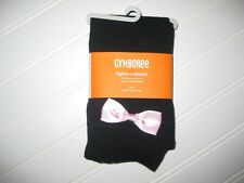 NWT Gymboree Halloween Shop size 5-6 Black Pink Bow Footless Cotton Tights