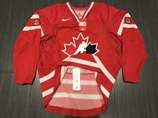 NWT 2008 AUTHENTIC NIKE TEAM CANADA RED HOCKEY JERSEY SZ 56 SIGNED WICKENHEISER