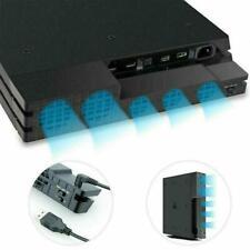 Schwarz PS4 Pro Console Externes USB Super Lüfter Turbokühlsystem U1N4
