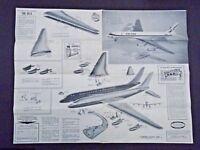 AURORA THE DC-8 UNITED PLASTIC PLANE MODEL INSTRUCTION SHEET ©1959