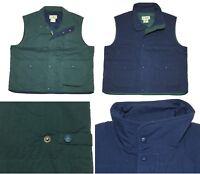 NEW L.L. Bean Blue Green Cotton Thermal Insulate Warm Vest Men L XL 2XL LT XLT