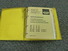 Hatz E780U ES785 E785 E785U Diesel Engine Service Repair Manual Book
