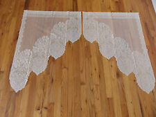 HERITAGE LACE IVORY CLEREMONT SWAG CURTAIN 26.5WX36L NICE ITEM 4105
