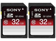Sony  64GB ( 2 X 32GB ) SDHC Memory Card Class 10 SF-32NX/TQ2 SD Sealed Package