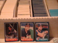 1984-1985-1986-1987 Fleer+update baseball pick 30 comp. set ex-nm