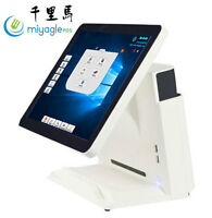 """All in one point of sale terminal 15"""" Touch Flat Panel WIN 10 Liquor Retail POS"""