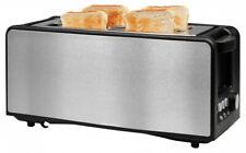 Home Ideas Langschlitz-Toaster 4 Scheiben Auftaufunktion warmhalten Edelstahl