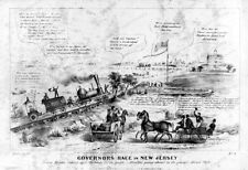 16x20 Poster Henry Robinson Satire Governors Race New Jersey 1844 #3a12536u