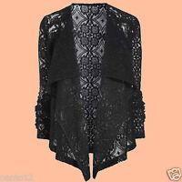 NEXT Fashion Black Lace Waterfall Bolero Blazer Jacket Summer Casual Party Top