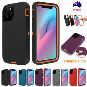 For iPhone 12/11 Pro XS/XR X Rugged Hybrid Heavy Duty Shockproof Hard Case Cover