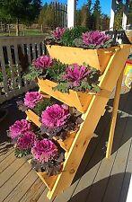 "New 24"" vertical gardening smooth yellow cedar raised elevated Survival planter"