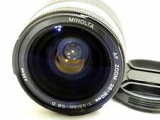 Konica Minolta AF D 28-80mm f3.5-5.6 Lens - AS IS - manual focus only - -  Parts