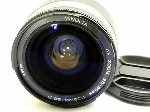 Konica Minolta AF D 28-80mm f3.5-5.6 Lens - AS IS - manual focus only Parts