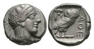 Attica, Athens AR Tetradrachm. Circa 454-404 BC