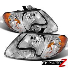 01-07 Dodge Caravan Chrysler Town&Country PAIR Signal Lamp Replacement Headlight