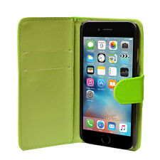 For iPhone 4 5 5S SE 6 6S 7 Leather Flip Wallet Case Cover + Screen Protector