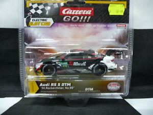 """Carrera Go!!! 1:43 Audi RS 5 DTM """"M.Rockenfeller, No.99"""""""