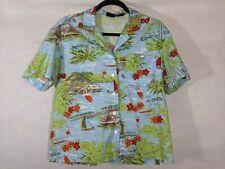 Women's Hawaiian Shirt Aloha Small Beach Palm Trees Hibiscus Surfing Vacation
