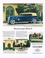 1936 BIG Original Vintage Packard Twelve Convertible Sedan Car Photo Print Ad