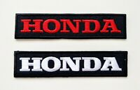 Text HONDA Motorcycle Patch Iron On Patch Biker Racing Embroidered