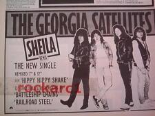 """Georgia Satellites Sheila 1989 UK Press ADVERT 12x8"""""""