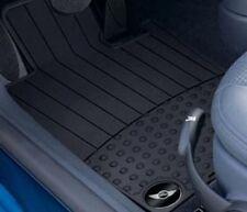 OEM Mini Cooper R50 R53 Black Rubber Floor Mats Mini Wings Logo Front & Rear