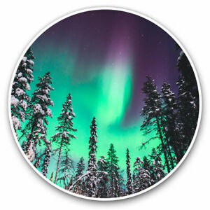 2 x Vinyl Stickers 30cm - Forest Northern Lights Solar System Cool Gift #16711