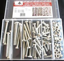 100pc GOLIATH INDUSTRIAL 10MM HIGH TENSILE NUT AND BOLT ASSORTMENT METRIC HTNB10