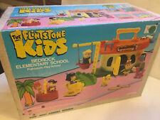 Flintstone Kids Bedrock Elementary School PlaySet, New in Box 1987 Coleco