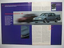 HOLDEN VL COMMODORE GROUP A SS TRACK TESTED IN BRITAIN 4 PAGE MAGAZINE ARTICLE