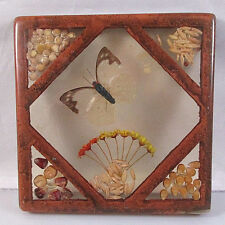 Vintage Lucite Resin Square Butterfly Trivet