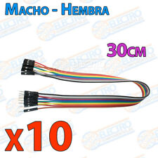 10 Cables 30cm Macho Hembra jumper dupont 2,54 arduino protoboar cable jumpers