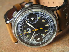 Vintage Early Overs. Military HEUER Chronograph One-Push. Hanh/Landeron M. 1930'