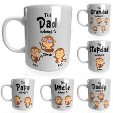 Personalised Fathers Day Mug Gift Dad Christmas Birthday New Born First 1 Monkey