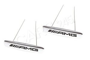 Genuine Front Seat Badge 2 Pcs MERCEDES Amg GT Roadster Glc C190 0008172416