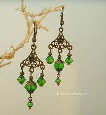 Ohrringe Bronze  handgemacht  Vintage Antiklook ethno Orientalisch