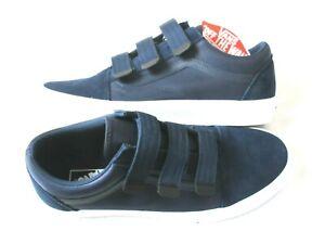 Vans Mens Old Skool V Hook & Loop Surplus Nylon shoes Dress Blues Size 11.5 NWT